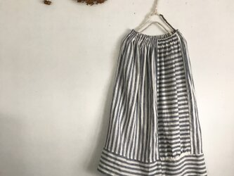 リネンストライプのスカート(015)の画像