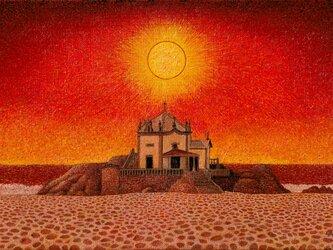 海の聖堂~夕映えの画像
