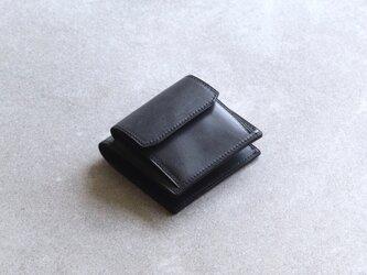【ブライドルレザー】コンパクトウォレット / Blackの画像