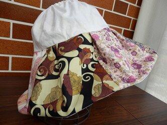 ザブザブ洗える布地のサンバイザー(リバティー布) №2の画像