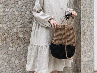 ☆受注製作 春夏 春 秋 コットン リネンルーズ長袖ワンピース スカートの画像