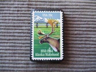 アメリカ  切手ブローチ 7367の画像