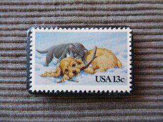アメリカ  切手ブローチ 7371の画像
