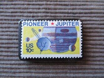 アメリカ  宇宙切手ブローチ 7373の画像