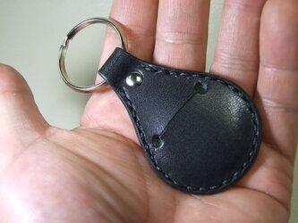 500円玉キーホルダー サドル黒の画像