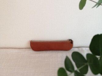 革のペンケース   №004-060の画像