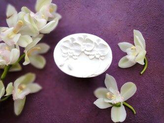 アロマストーン ■ 胡蝶蘭 オーバル ヨコ型 ■ 6種類から香りが選べるの画像