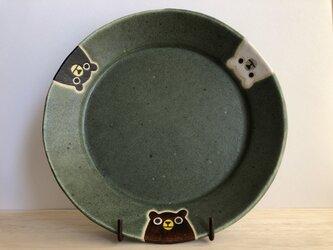 リムプレート(3クマ・グリーン)の画像