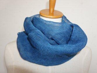 藍染 リネンガーゼのスヌードの画像