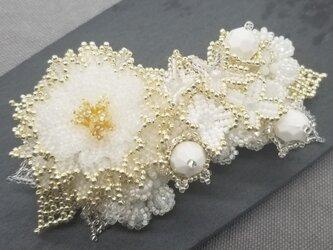 バレッタ Bouquet  (ホワイトピオニー)の画像