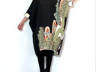 着物リメイク 留袖 モモンガワンピースの画像