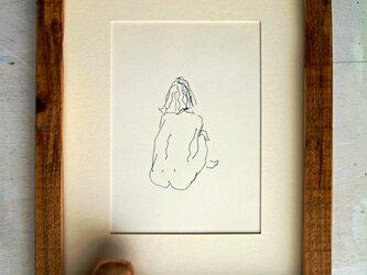 ペンによる裸婦素描(額無し)その1の画像