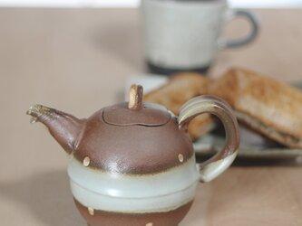 【焼き締めポット グレー】P2 和食器 陶芸 美濃焼 結婚祝い お祝い 父の日 母の日 陶器 手作り お茶 モダン 素敵の画像