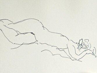 ペンによる裸婦素描(額無し)その5の画像