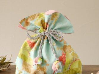 着物 巾着 梅文 幸せを呼ぶFUGURO 中サイズの画像