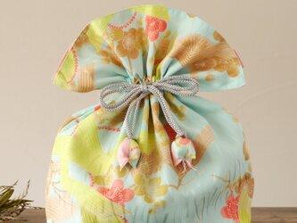 着物 巾着 梅文 幸せを呼ぶFUGURO 大サイズ の画像