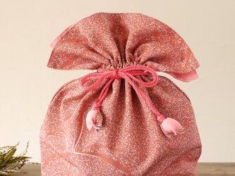 着物 巾着 蝶文 幸せを呼ぶFUGURO 大サイズ の画像