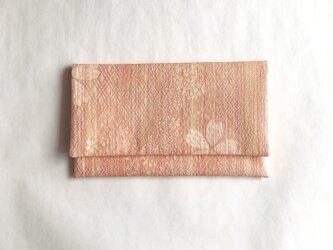 絹手染懐紙入れ(縦・薄オレンジ系)の画像