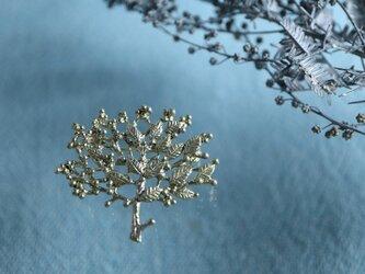 Brass brooch「New season」の画像
