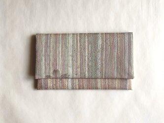 絹手染懐紙入れ(縦・渋色ミックス)の画像
