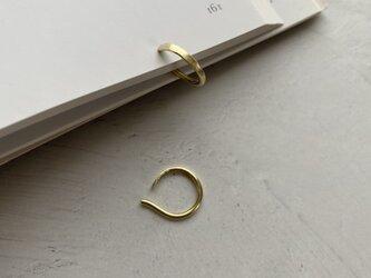 真鍮 Hoop イヤリング・イヤーカフ (槌目イヤリング・ノンホールピアス)の画像