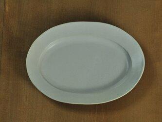 楕円7寸皿/白の画像