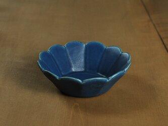 輪花切立4.5寸鉢/青の画像