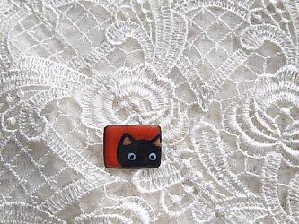 七宝 ちっちゃく可愛く黒猫ブローチの画像