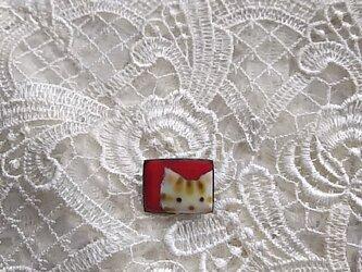 七宝 ちっちゃく可愛く縞猫ブローチの画像