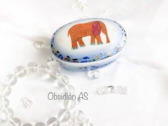 象 小物入れ 雑貨 タイ アジアン オレンジ ぞうの画像