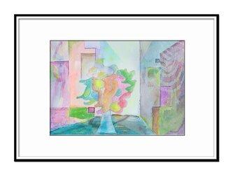 「沈潜する詩の保管所」 ほっこり癒しのイラストA4サイズポスター No.781の画像
