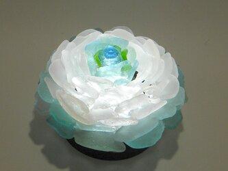 シーグラス 花びらのテーブルランプ-8の画像