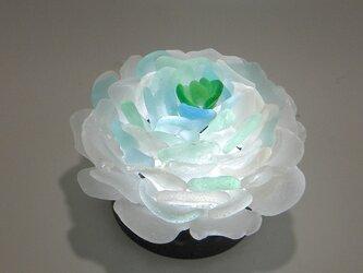 シーグラス 花びらのテーブルランプ-5の画像