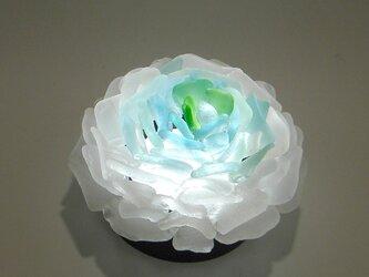 シーグラス 花びらのテーブルランプ-2の画像