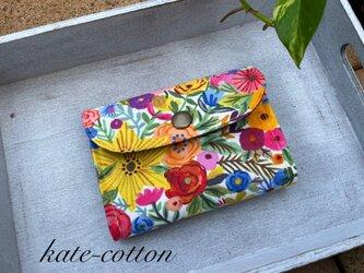 ■軽い! ミニ財布⭐︎USAコットン・ボタニカル・花の画像