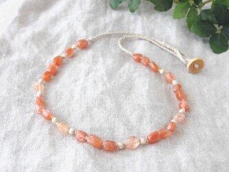 Orange Shine Short Necklaceの画像