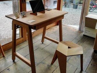 <work talk desk>リモートワーク向けデスク 800x500サイズ+引き出しx1(受注制作)の画像