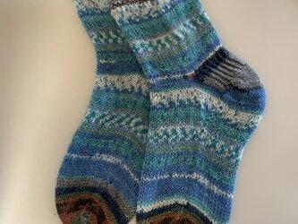 No.532 手編み靴下の画像