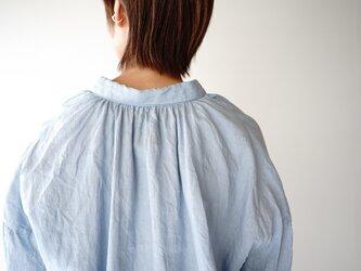short(size1)/フレンチリネンギャザーブラウス/light blueの画像