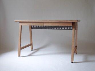 <work talk desk>リモートワーク向けデスク  1200x650サイズ+引き出しx2(受注制作)の画像