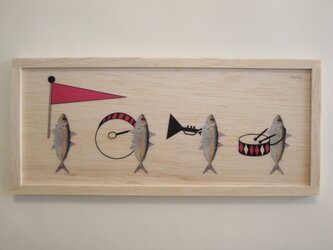 Fish parade (red)の画像