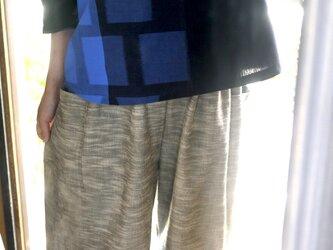 K様専用 久留米絣藍染トップスと水玉パンツ2点の画像