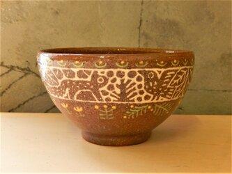 リスと鳥のお茶碗の画像