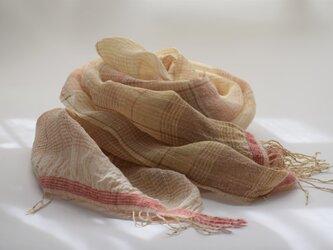草木染 手織りストール <NIWA 01>の画像