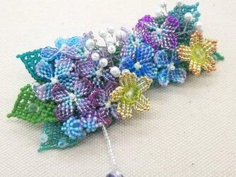バレッタ Bouquet  (紫陽花01)の画像