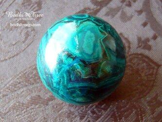 クリソコラ・スフィア(丸玉)-bの画像