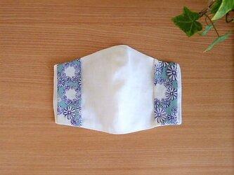 側接触冷感Wガーゼの夏用マスクカバー(リバティ花)の画像