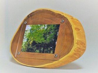 木製写真立て 壁掛け対応 No.2 エンジュ斜め輪切り(KG-20)の画像