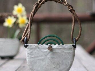【粉引き吊る付き蚊遣り】 KA7  虫 蚊取り線香 夏 花 花瓶 おしゃれ 素敵 かわいい 美味しい 祝いの画像