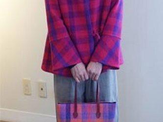 手織りウール ウエストリボンジャケットの画像